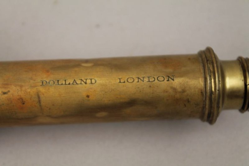 Dolland London Brass and Wood Telescope - 3