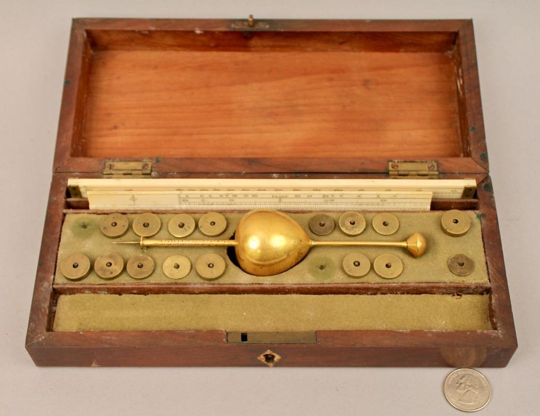 Antique Hydrometer Original Wood Box Alcohol Proof - 4