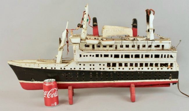 SS France Cruise Ship Model