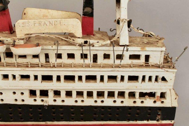 SS France Cruise Ship Model - 2