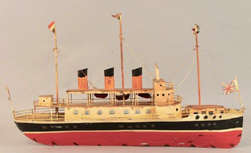Tin British Cruise Ship Model