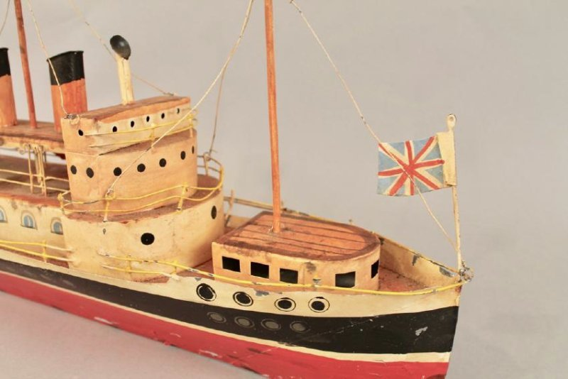 Tin British Cruise Ship Model - 5