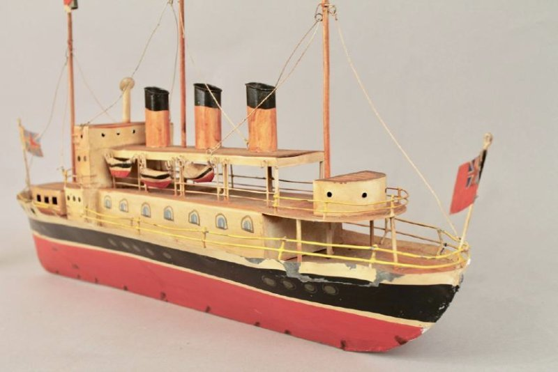 Tin British Cruise Ship Model - 6