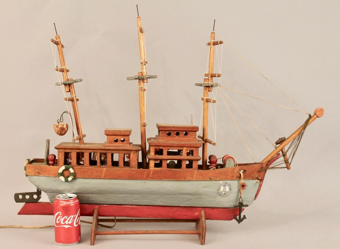 Three Masted Handmade Ship Model