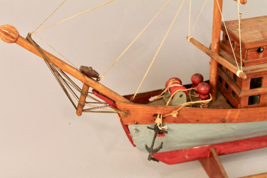 Three Masted Handmade Ship Model - 5