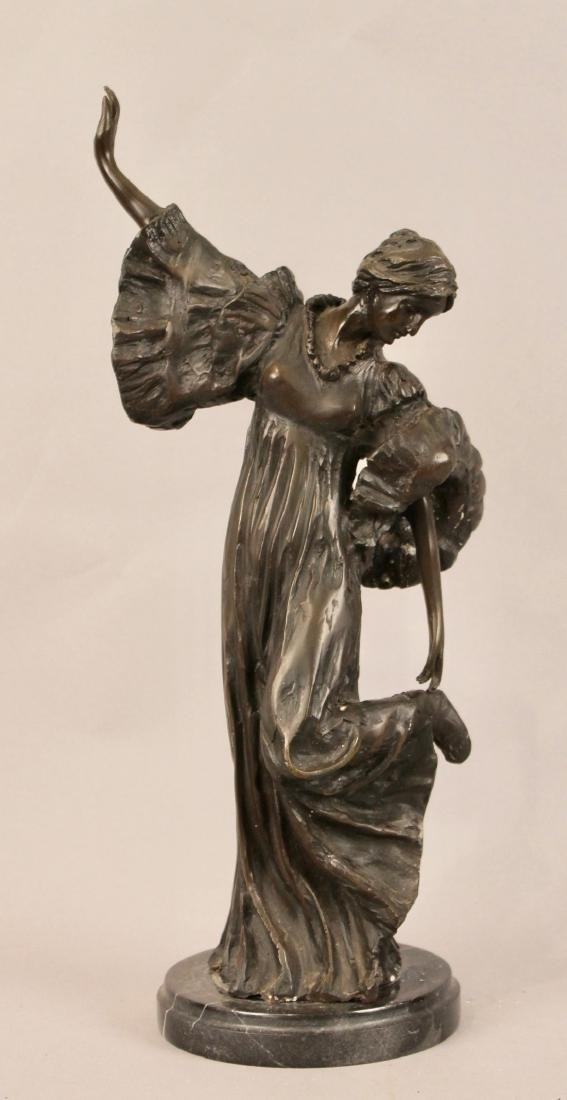 Bronze of Posing Woman signed