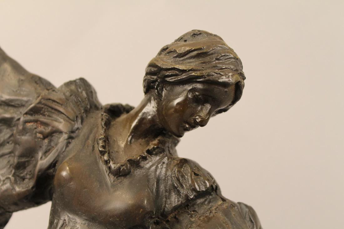 Bronze of Posing Woman signed - 2