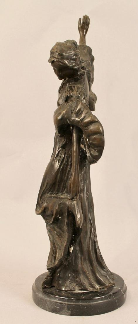 Bronze of Posing Woman signed - 3