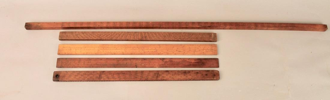 5 Vintage Mathmatical Measuring Sticks - 2