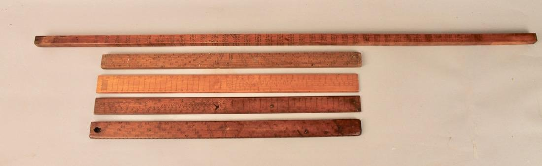 5 Vintage Mathmatical Measuring Sticks - 3