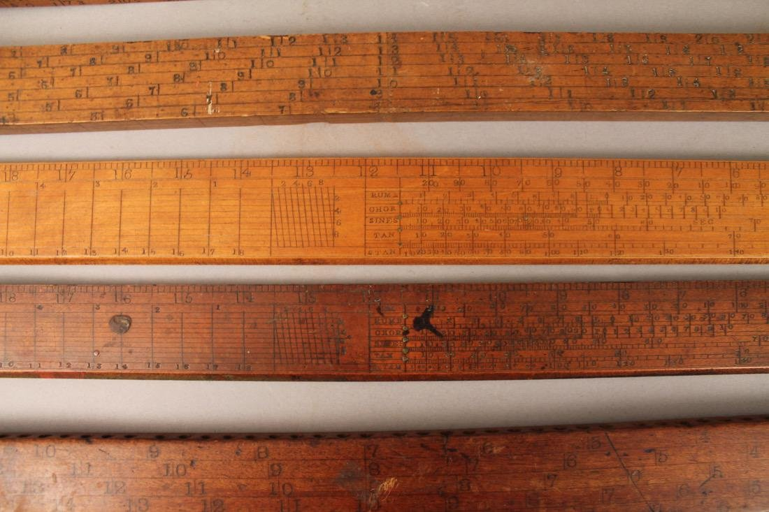 5 Vintage Mathmatical Measuring Sticks - 4