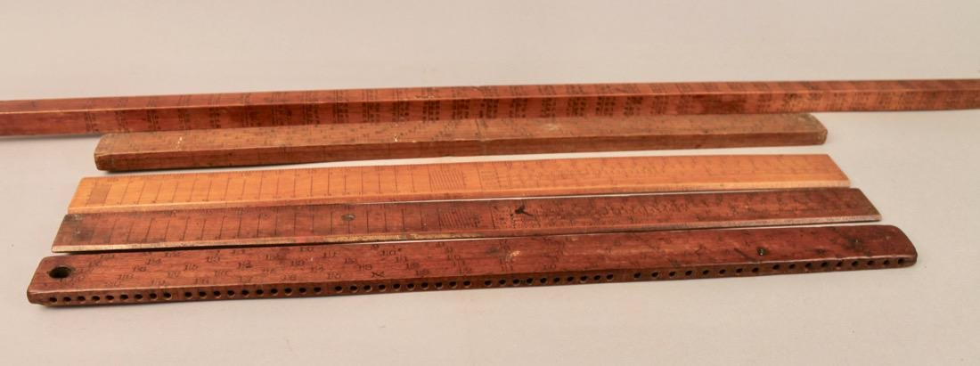 5 Vintage Mathmatical Measuring Sticks - 5
