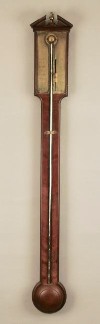 Dolland London Mahogany Stick Barometer