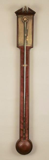 Dolland London Mahogany Stick Barometer