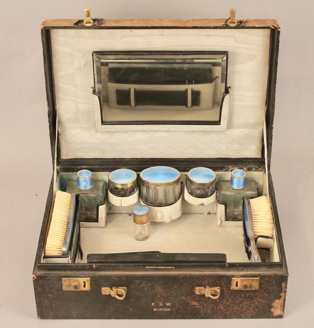 Shreve, Crump & Low Sterling Guilloche Vanity Set