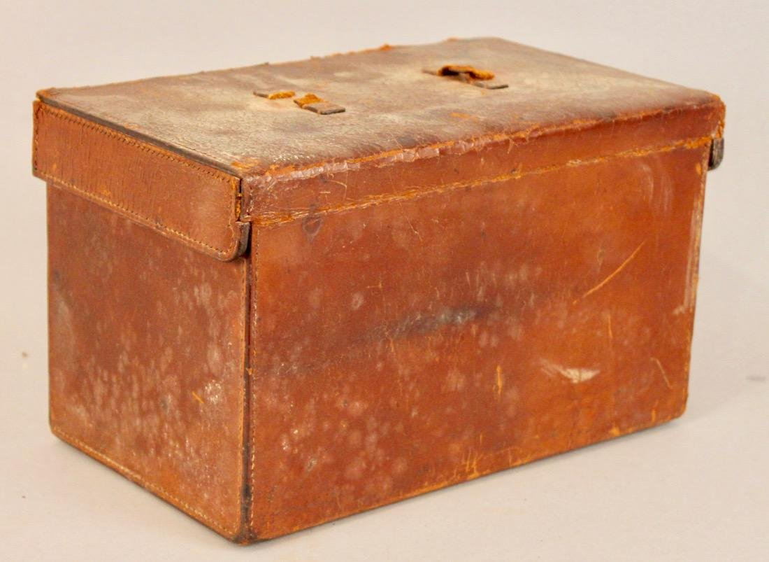 Vintage Travel Tea Service in Leather & Wood Case - 5