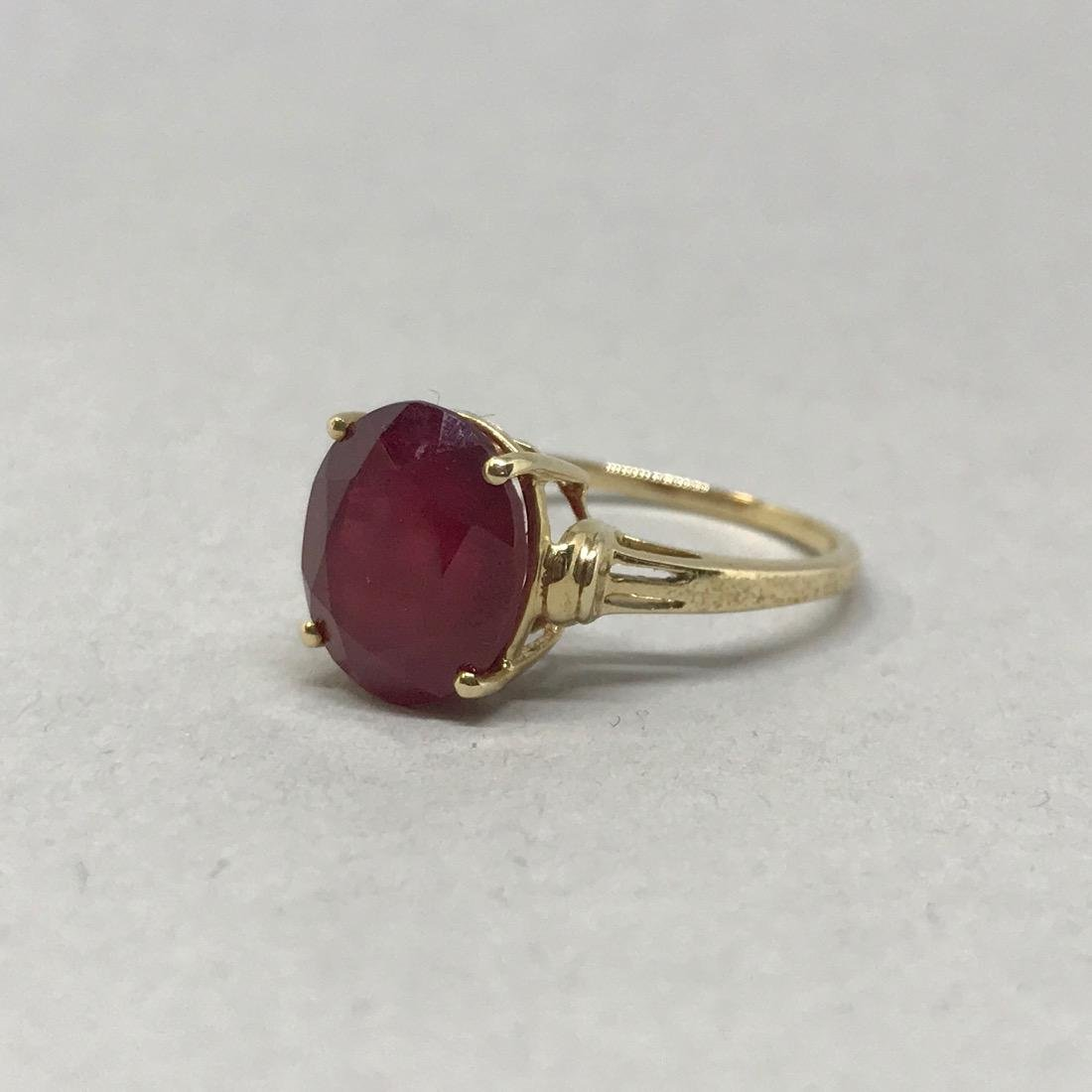 10K Gold Ruby Ring - 2