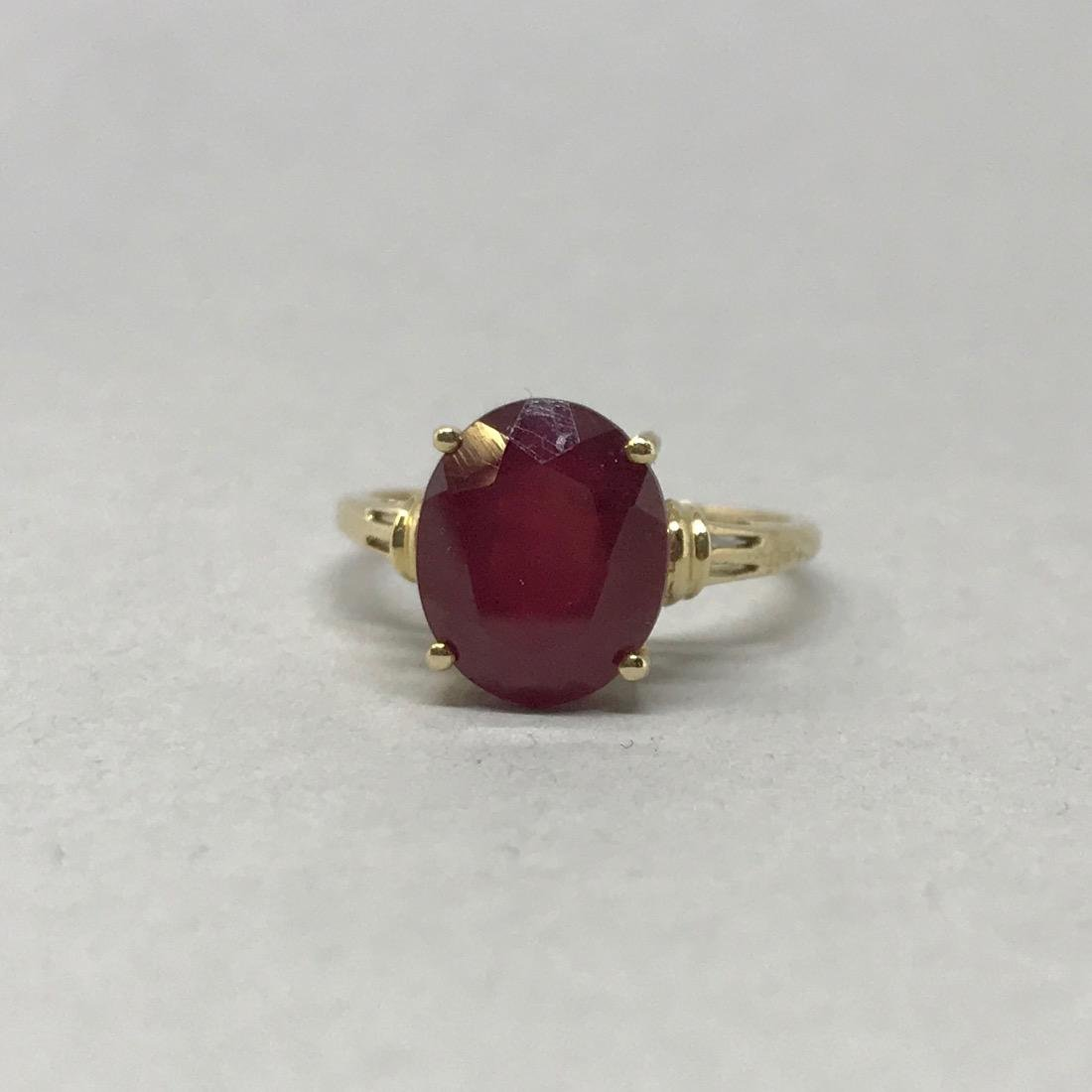 10K Gold Ruby Ring - 3