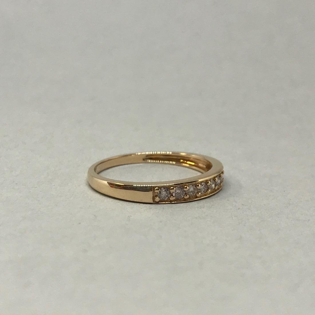 10K Gold Band with Diamonds - 2