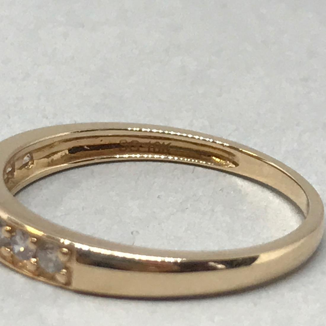 10K Gold Band with Diamonds - 3