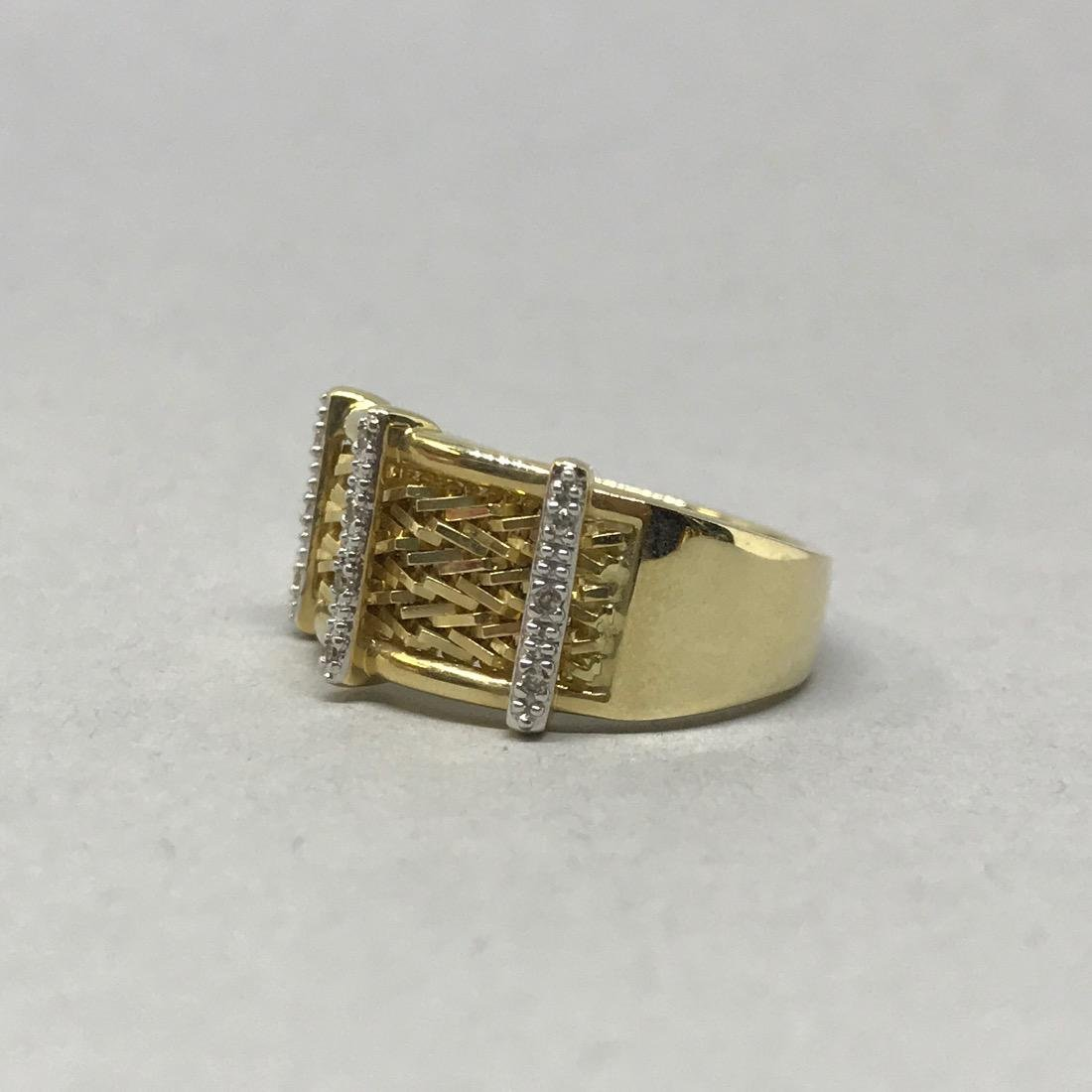 14 Kt Gold Ring with Diamonds - 2