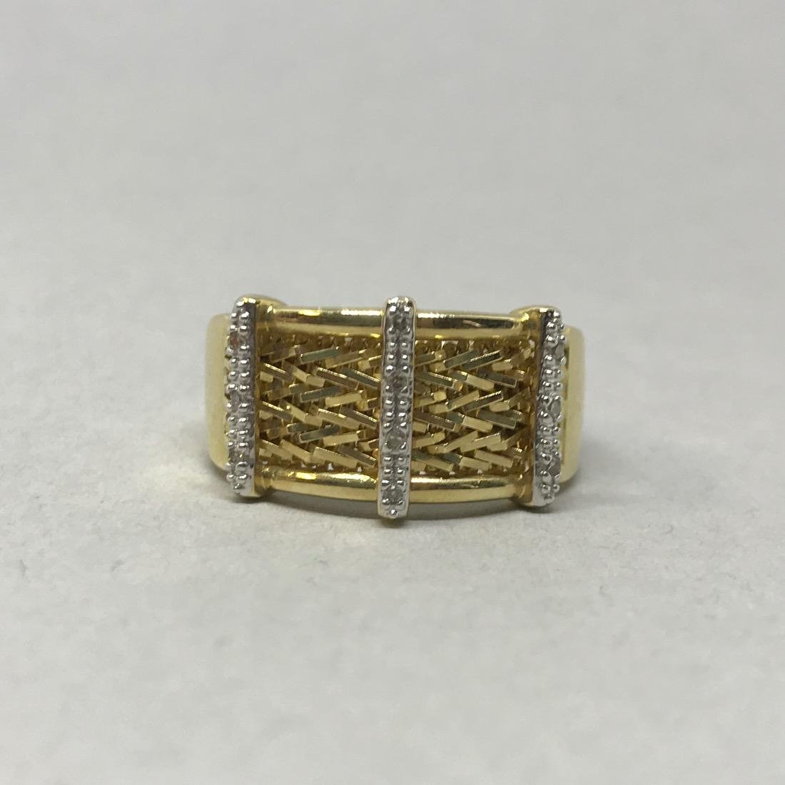 14 Kt Gold Ring with Diamonds - 3