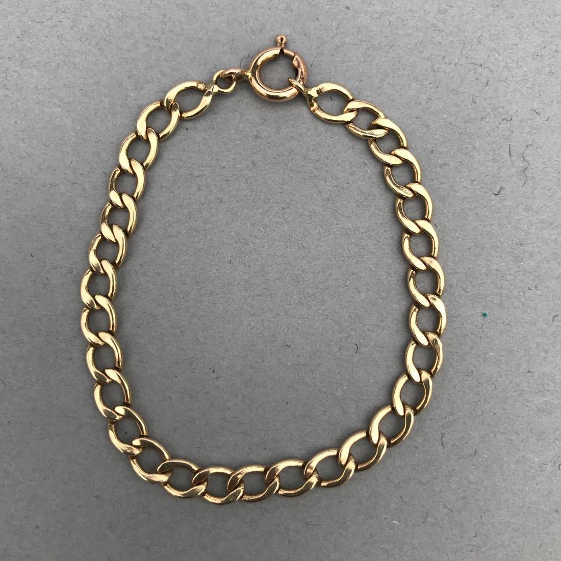 14K Gold Chain Link Bracelet