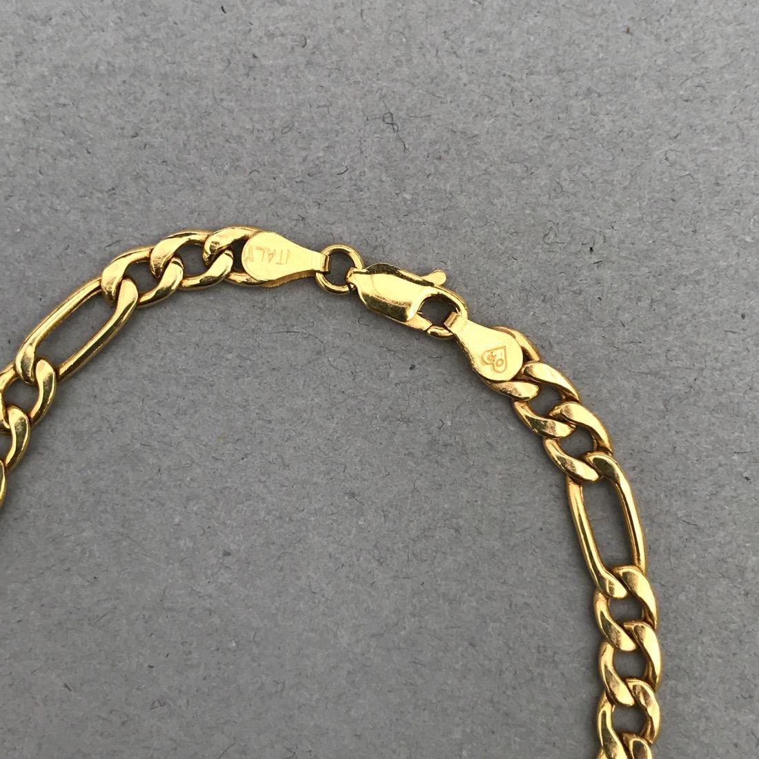 14K Gold Chain Link Bracelet - 2