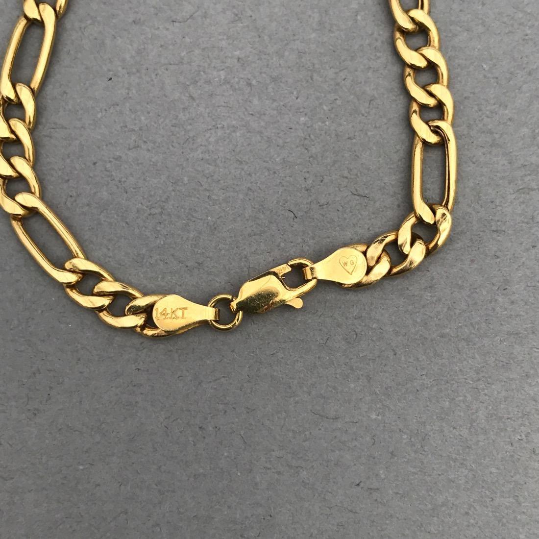 14K Gold Chain Link Bracelet - 3