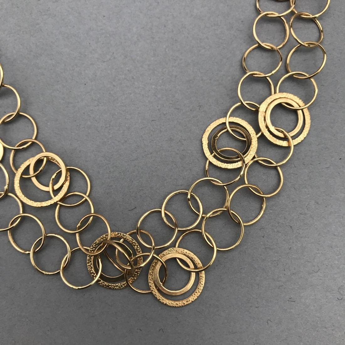 14K Gold Circle Necklace - 2