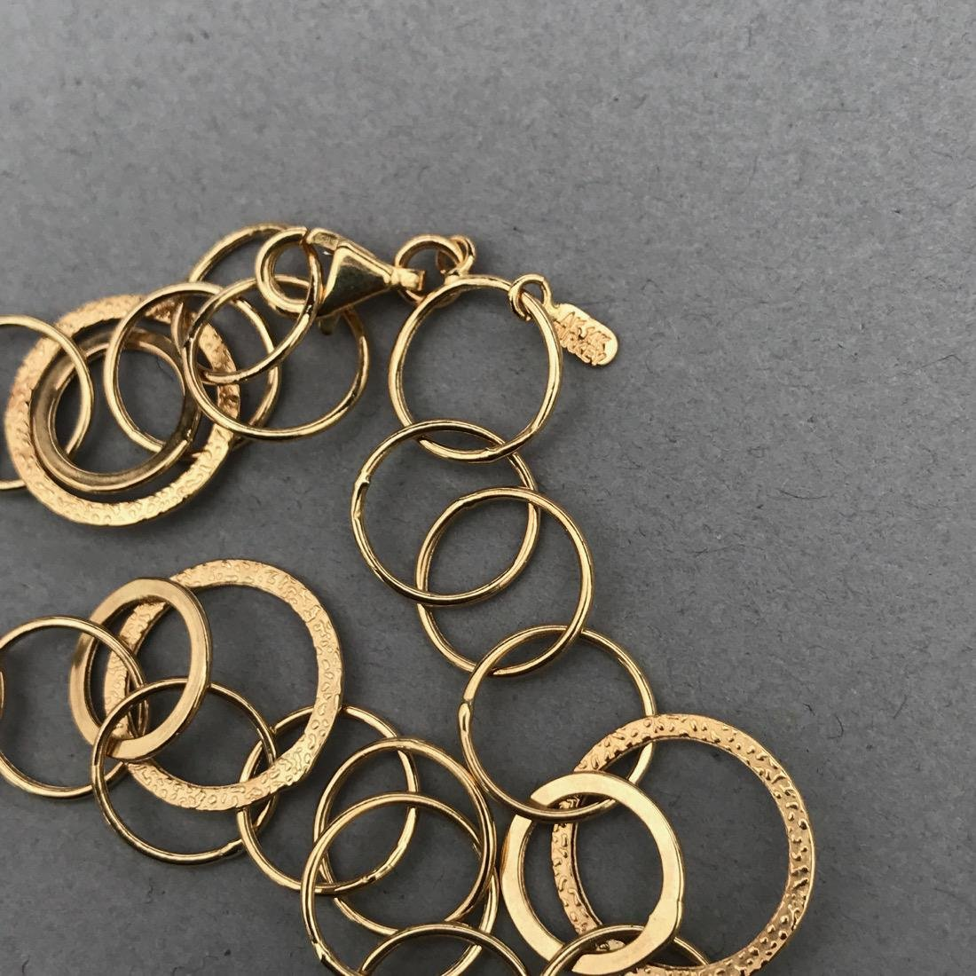 14K Gold Circle Necklace - 3
