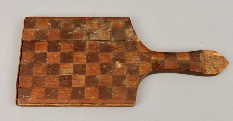 18/19th C Fragment Mirror w Heart & Checker Inlay - 2