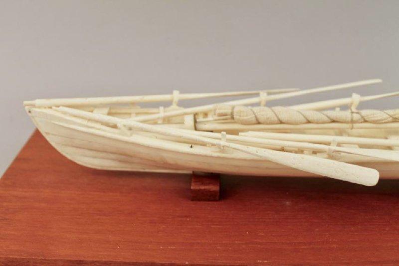 Authentic Whale Bone Boat Model - 3