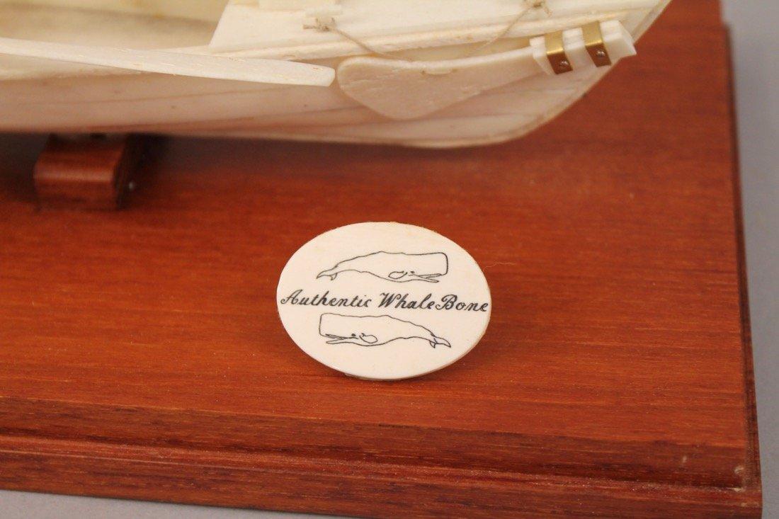Authentic Whale Bone Boat Model - 7
