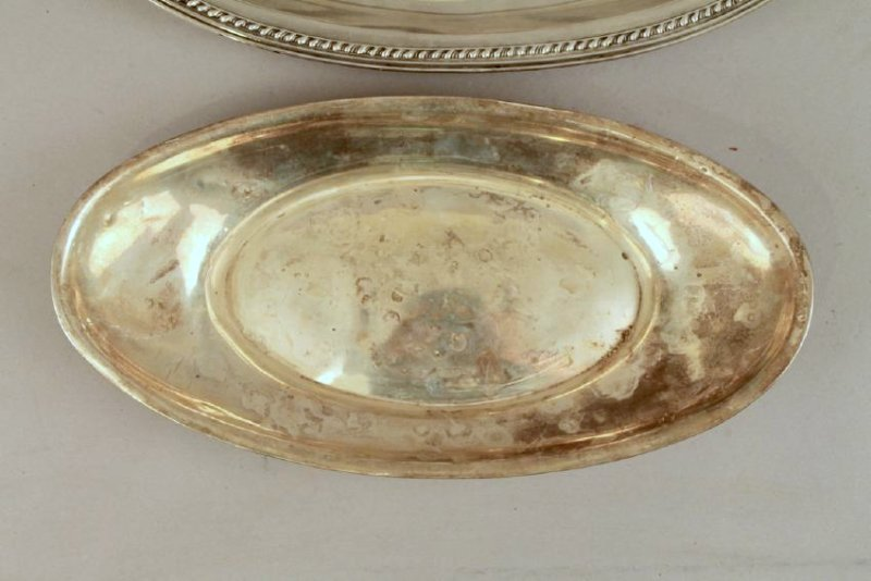 3 Sterling Silver Bread Trays - 2