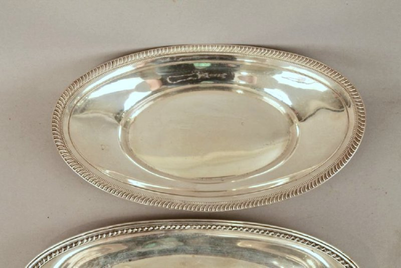 3 Sterling Silver Bread Trays - 4