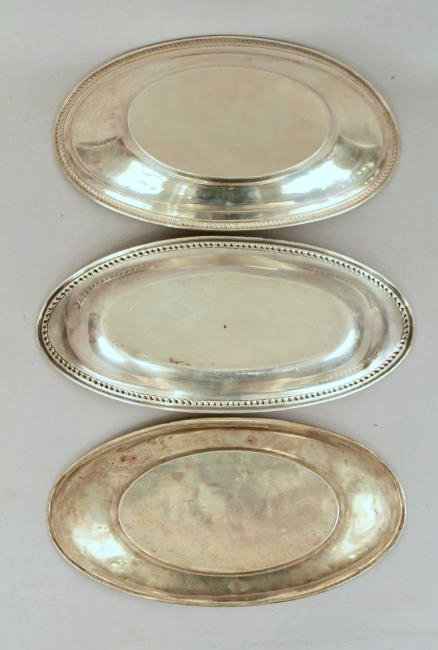 3 Sterling Silver Bread Trays - 5