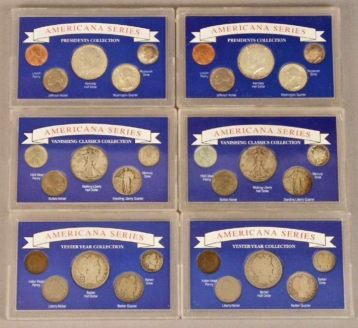 6 Americana Series Coin Collections Silver