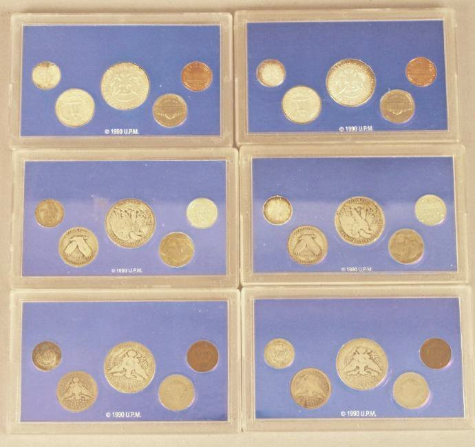 6 Americana Series Coin Collections Silver - 2