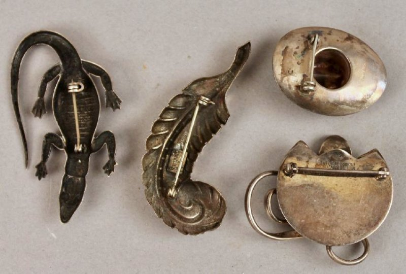 4 Vintage Sterling Brooches 1 Leonore Doskow - 2