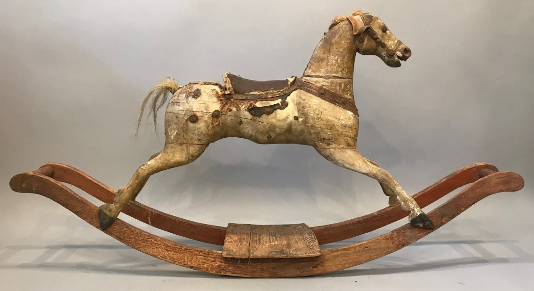 Vintage Folk Art Rocking Horse