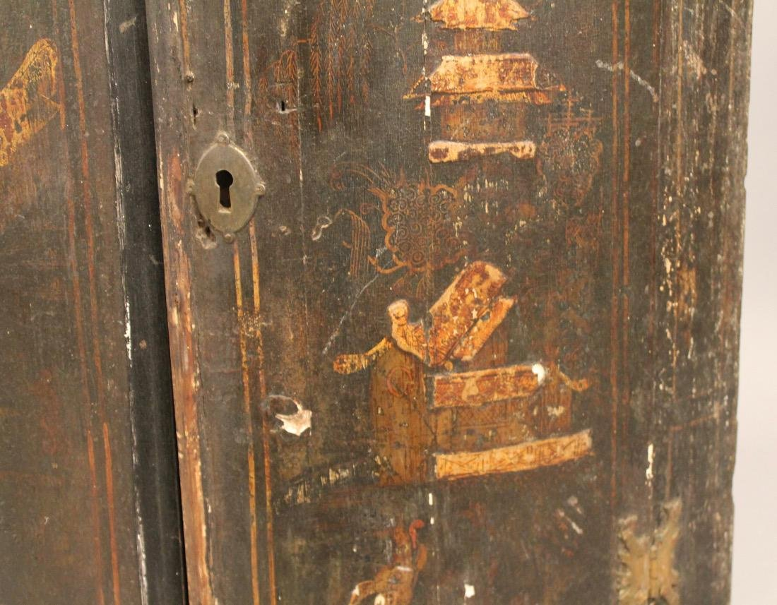 18th C Chinoiseri Hanging Corner Cupboard - 4