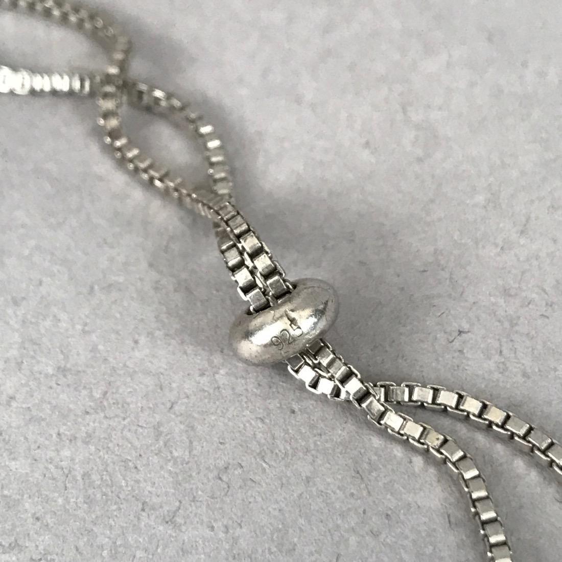 3 Sterling & Diamond Bracelets & Pr Earrings - 2