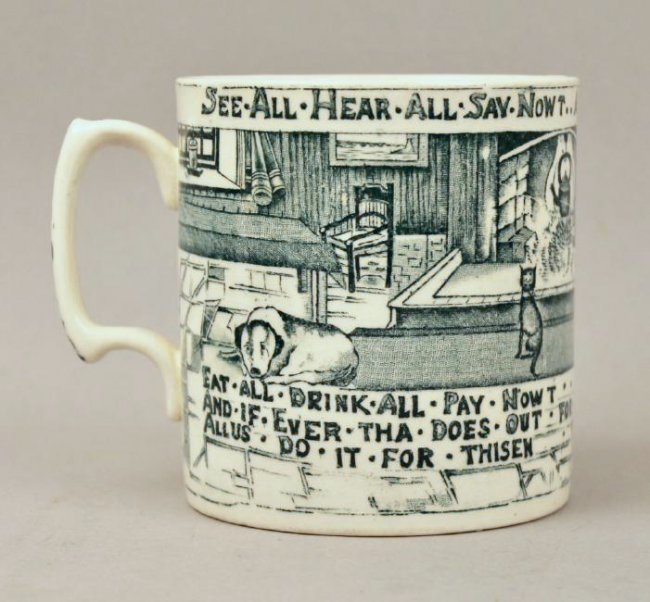 British Anchor Transferware Mug