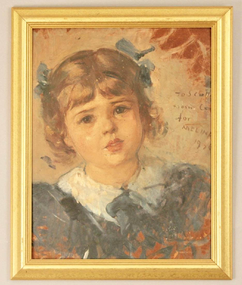 Portrait of Child Oil on Board 1936