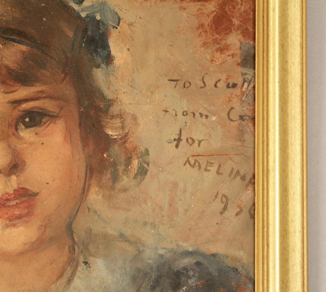 Portrait of Child Oil on Board 1936 - 2