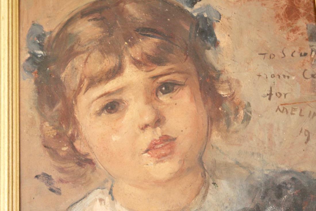 Portrait of Child Oil on Board 1936 - 3