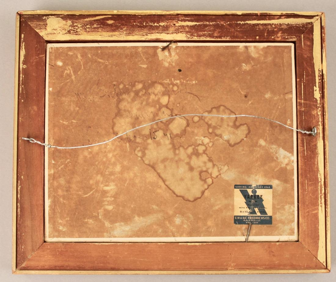 Oil on Board landscape signed on Reverse NY Label - 2