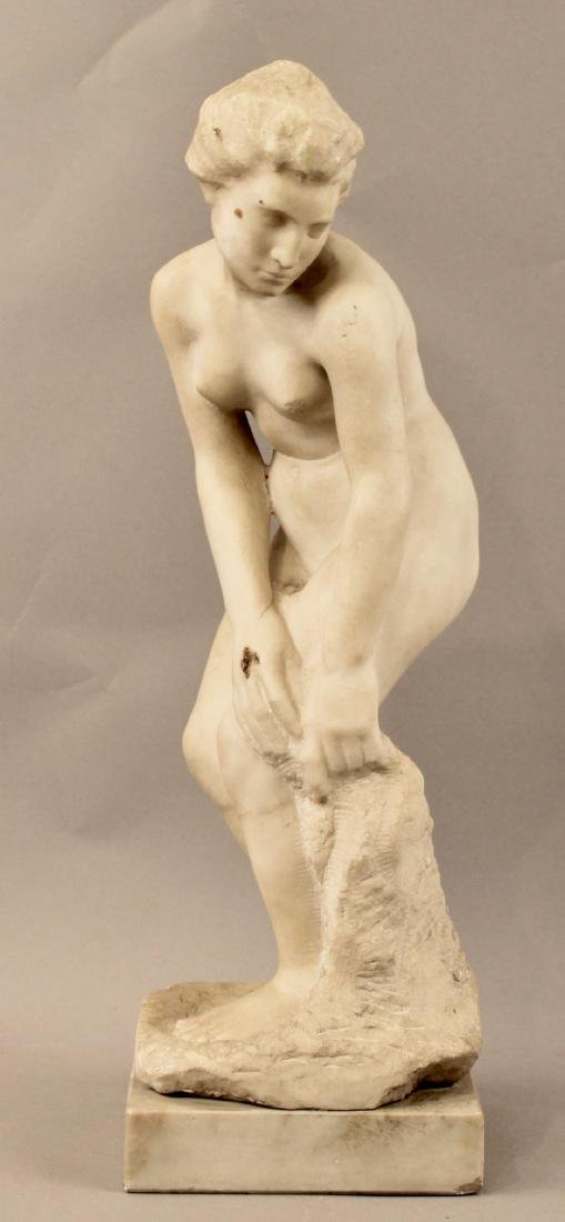 Alabaster Sculpture of Nude Woman