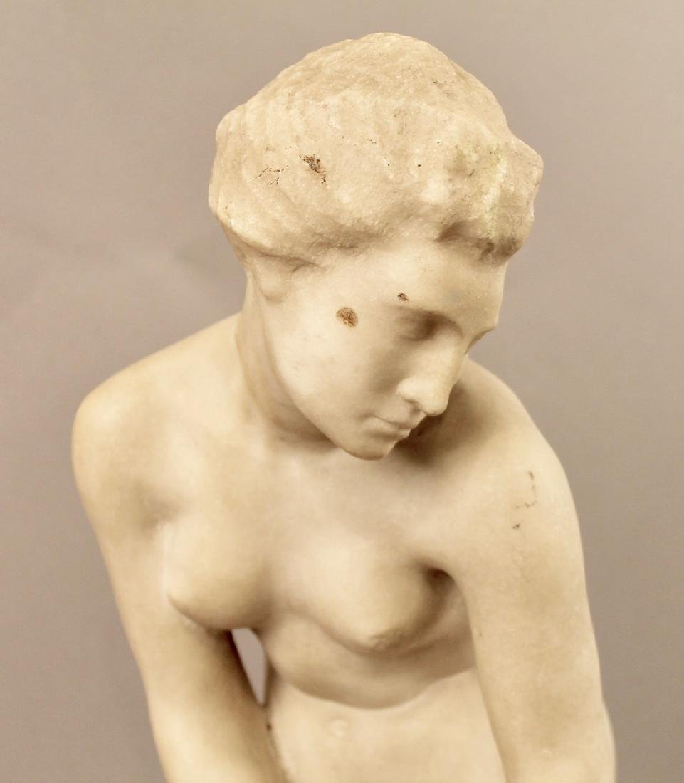 Alabaster Sculpture of Nude Woman - 2